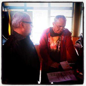 Daan & Dirk rehearsal on set